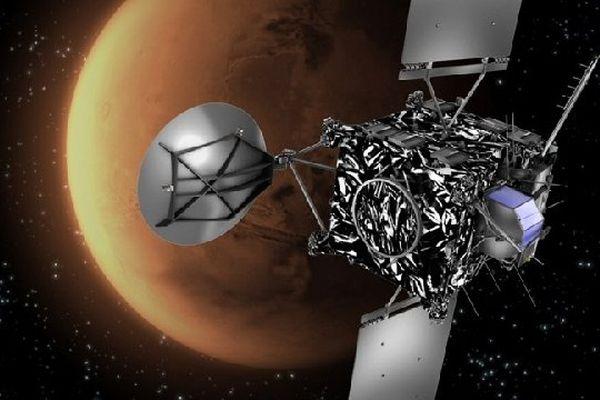 La sonde Rosetta devant la planète Mars