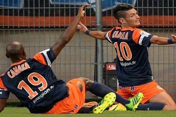 Montpellier - premier but de la saison 2013-2014 de ligue 1, premier but pour le MHSC marqué par Cabella contre le PSG - 9 août 2013.