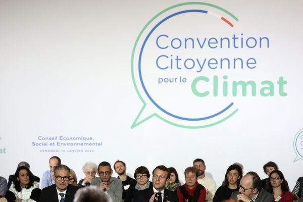 Le 10 janvier dernier, le président Emmanuel Macron a reçu les 150 membres de la Convention Citoyenne pour le Climat