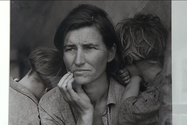 """""""La Mona Lisa des années 30"""" Photo de l'Américaine, Dorothea Lange. 1936 : au camp de Nipomo, en Californie."""