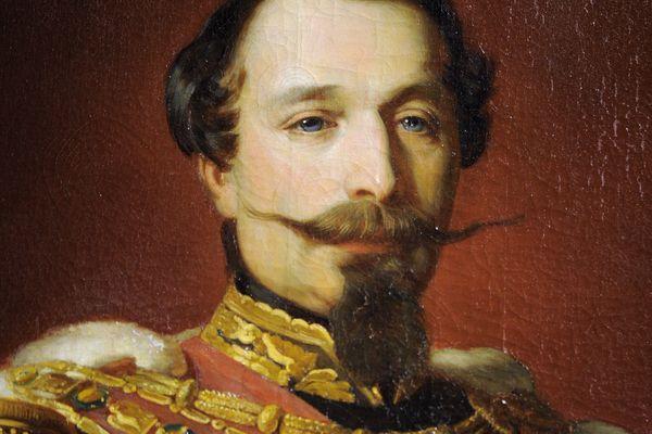 Portrait de l'empereur Napoléon III, huile sur toile de 1861, de Frédéric Grosclaude.