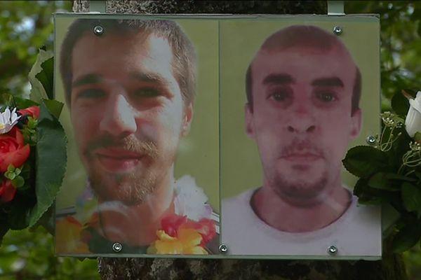 Jean-Christophe Morin et Ahmed Hamadou ont disparu à un an d'intervalle lors d'un festival au fort de Tamié (Savoie).