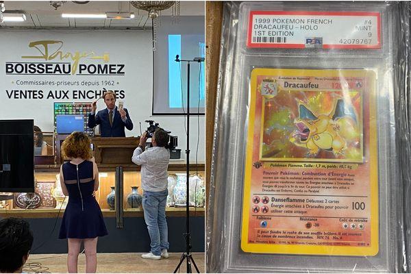 Une vente aux enchères de cartes Pokémon a eu lieu à Troyes le 15 juin 2021