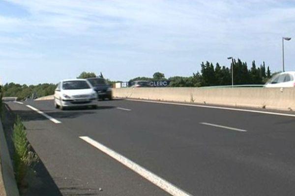 La route de Palavas où a eu lieu l'accident