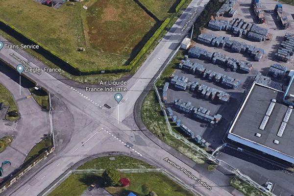 L'accident s'est produit dans la zone industrielle de Grand-Quevilly