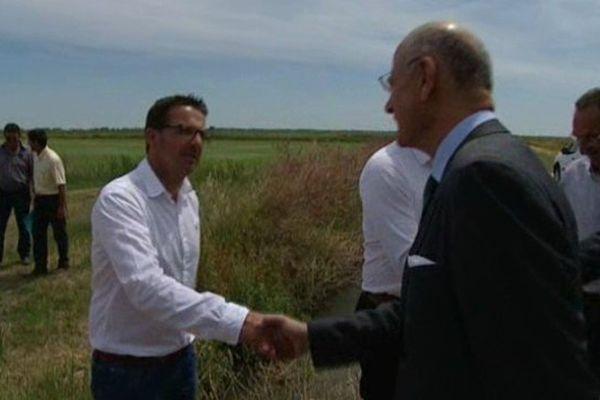 Rencontre entre les riziculteurs de Camargue et Pierre de Bousquet, préfet de région - 1er janvier 2015