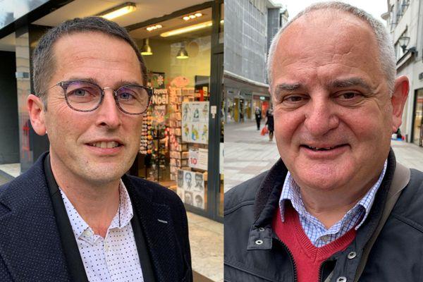 Marc Noizet (à gauche) et Patrick Vogt ont passé une année au rythme de la covid, l'un du côté des urgences de Mulhouse, l'autre dans son cabinet de généraliste.