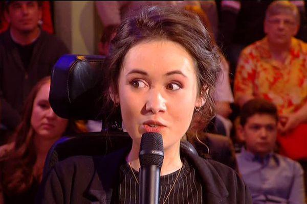 Jeanne Pelat sur le plateau du Téléthon ce samedi soir