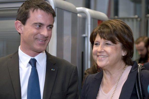 Manuel Valls et Martine Aubry la semaine dernière à Lille.