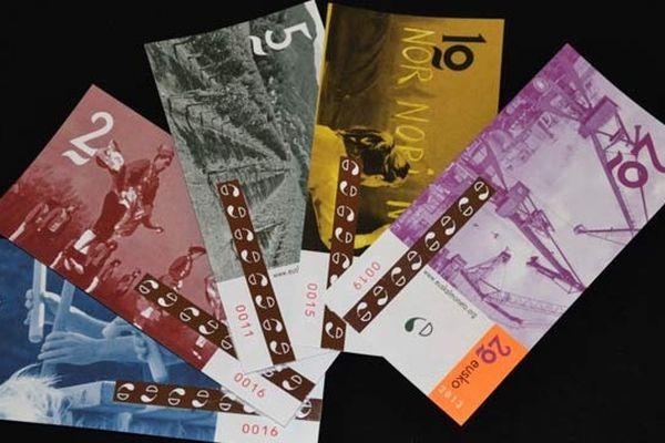 Les 5 coupures d'eusko ont été présentées à presse aux Halles de Bayonne, conçues à partir de photographies de Bob Edme et d'une maquette de Ramuntxo