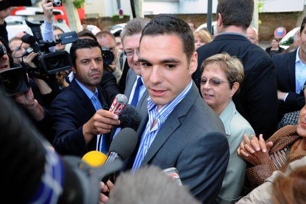 Etienne Bousquet-Cassagne pendant la campagne des municipales à Villeneuve-sur-lot