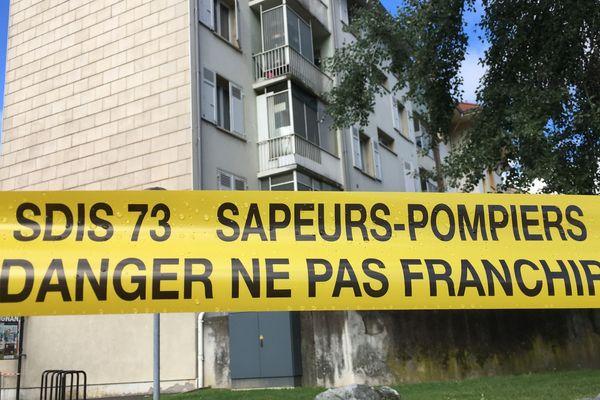 Le bâtiment où a eu lieu l'effondrement à Albertville (Savoie) a été sécurisé mardi soir.