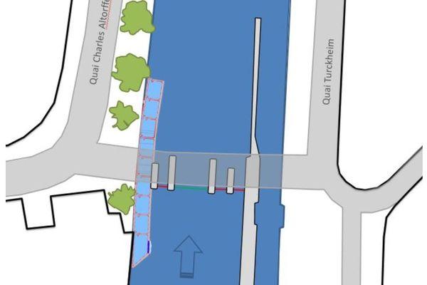 Neuf bassins successifs et huit petites chutes, au barrage des Faux-Remparts à Strasbourg, permettront à tous les poissons de circuler