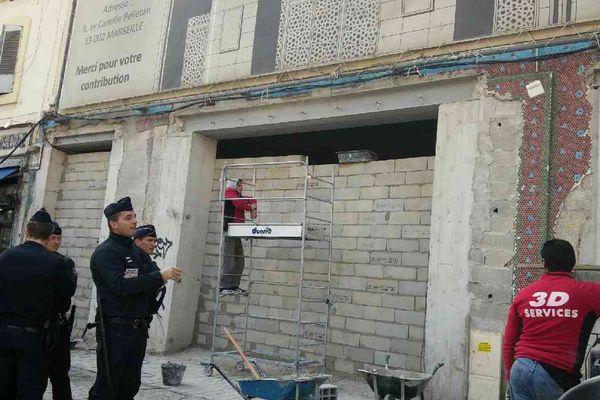 L'accès de la mosquée de la rue Camille Pelletan à Marseille a été murée ce mardi.