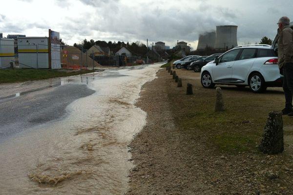 Inondations à Avaray (Loir-et-Cher)
