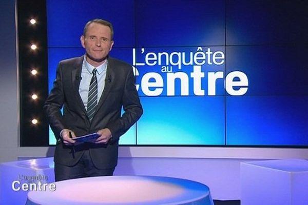 Gérald Teissier, présentateur de l'Enquête au Centre