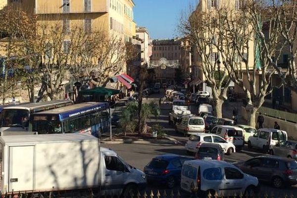 L'opération escargot a engendré des embouteillages à Bastia.