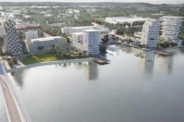 Le projet d'aménagement des rives du Rhin à Huningue