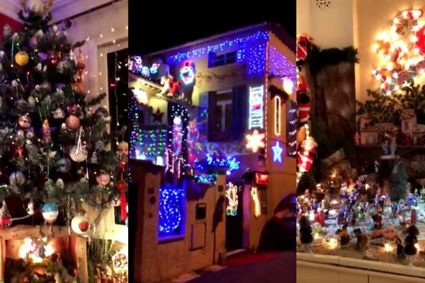 Les décorations de Noël chez Anne Ardisson à Antibes