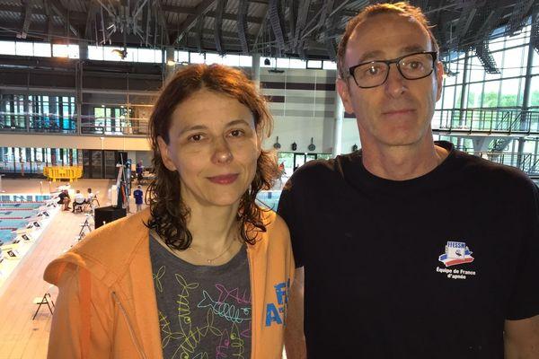 Sylvie Gilson et Eric Marchal, les champions de France d'apnée statique 2019