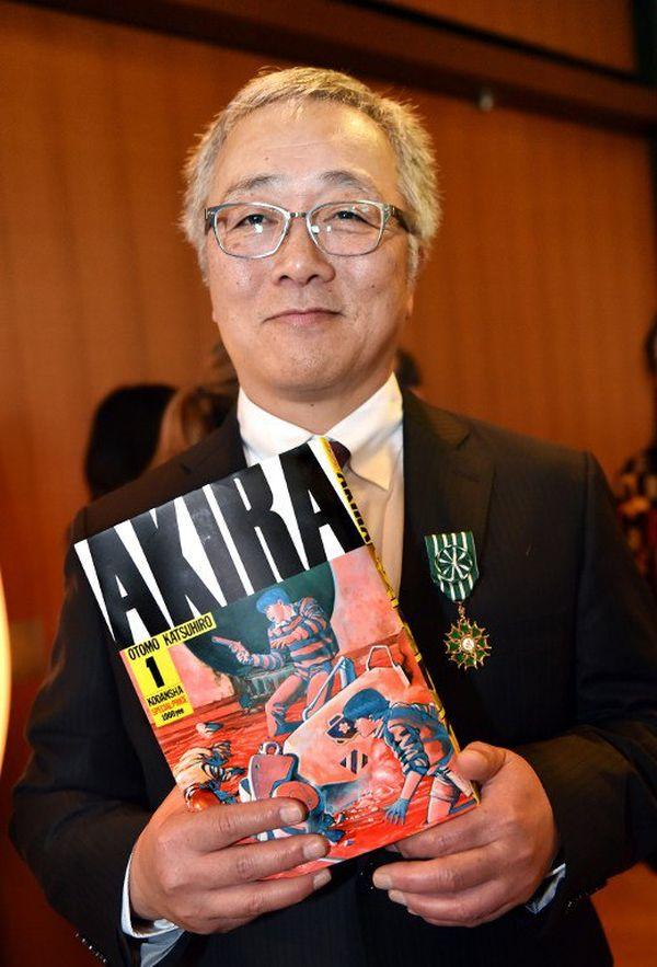 Katsuhiro Otomo, 61 ans, lauréat du Grand prix du FIBD l'an dernier.