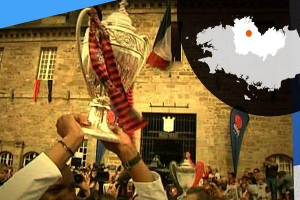 La Coupe de France se balade dans les rues de Guingamp en mai 2014