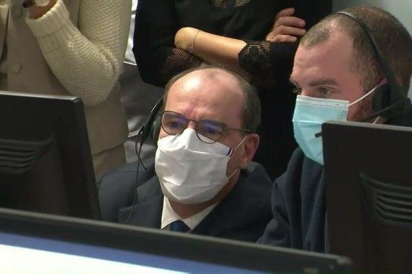 Jean Castex inaugure la plate-forme de prise de rendez-vous pour la vaccination des plus de 75 ans à Metz
