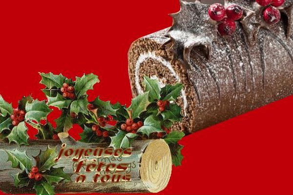 La bûche de Noël était au départ une véritable bûche de bois que, selon la coutume, on mettait au feu après l'avoir bénie.