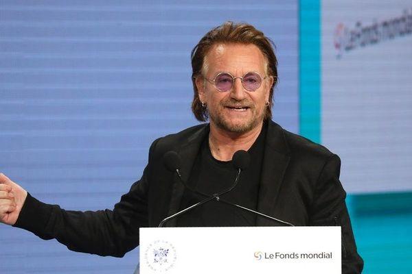 Le leader du groupe U2 et co-fondateur de l'ONG RED était présent à Lyon pour la 6e Conférence de reconstitution du Fonds Mondial contre le sida, la tuberculose et le paludisme - 10/10/19