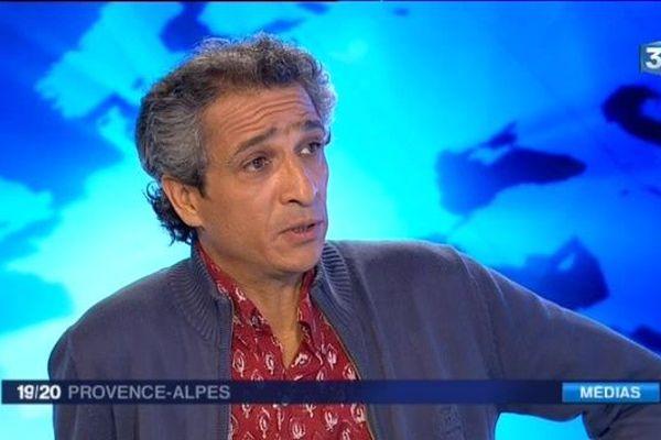 Rachid Oujdi, sur le plateau du journal de France 3 Provence-Alpes, le 17 octobre 2016