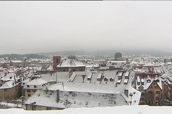 Belfort sous la neige