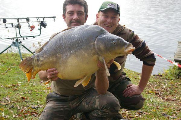 Une carpe de 26 kg 900 pêchée en 2010