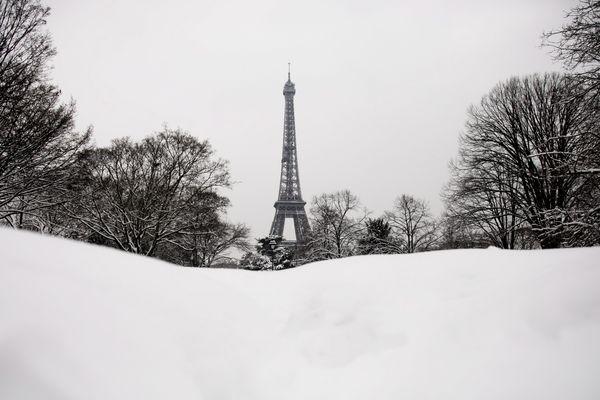 De la neige à Paris, le 8 février 2018.
