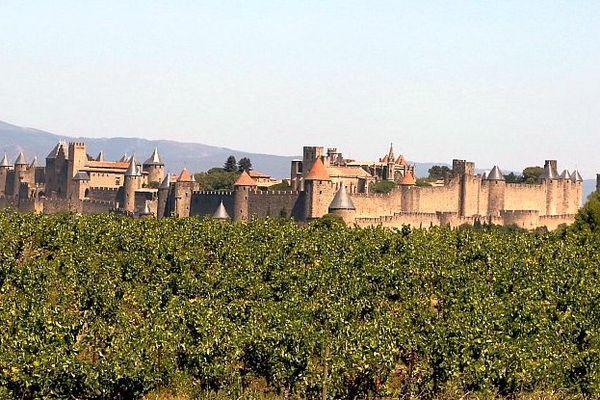 Carcassonne - les vignes de l'IGP Cité de Carcassonne - archives