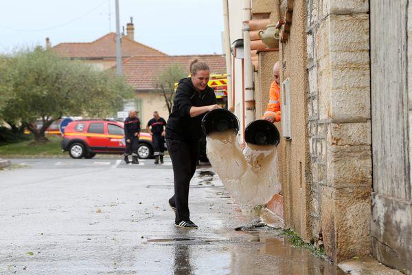 Suite aux violents orages du 24 août, certaines habitations de Pignans ont été inondées.