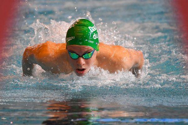 Première finale pour Léon Marchand, jeune nageur toulousain spécialiste des quatre nages et du papillon.