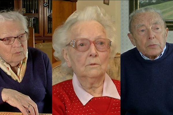 Christiane Cabalé, Gisèle Giraudeau, André Gaillard, trois ligériens déportés dans les camps de travail, pendant la Seconde Guerre Mondiale.