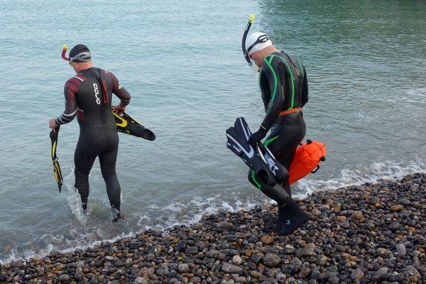 Mise à l'eau pour nos nageurs à Dieppe