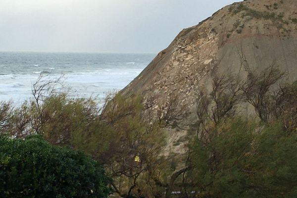 La falaise effondrée à Bidart ce jeudi 10 décembre