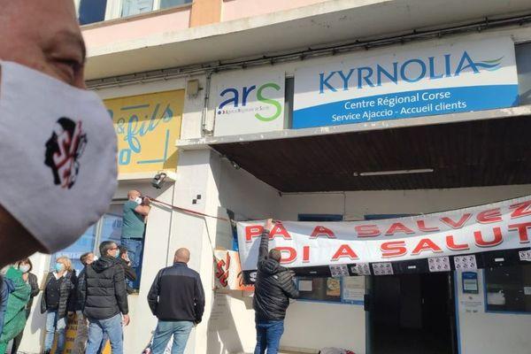 Une partie des personnels soignants des hôpitaux de Corse était en grève ce mercredi 3 février.