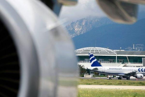 ILLUSTRATION - Avions sur le tarmac de l'aéroport d'Ajaccio-Napoléon-Bonaparte.