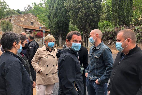 Les colisiters de Fà populu inseme à Patrimonio (de face, Anne-Laure Santucci et Hyacinthe Vanni)