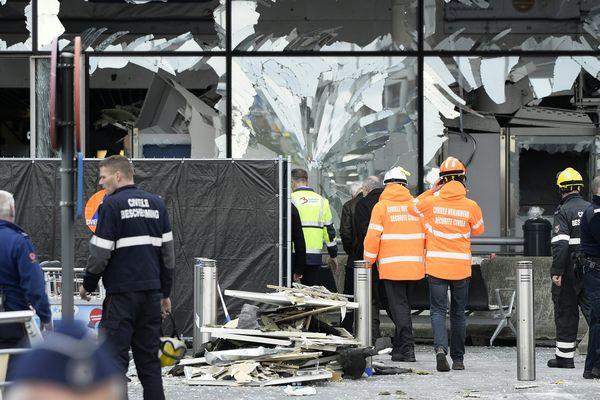 L'aéroport de Zaventem après l'attentat suicide du 22 mars 2016.