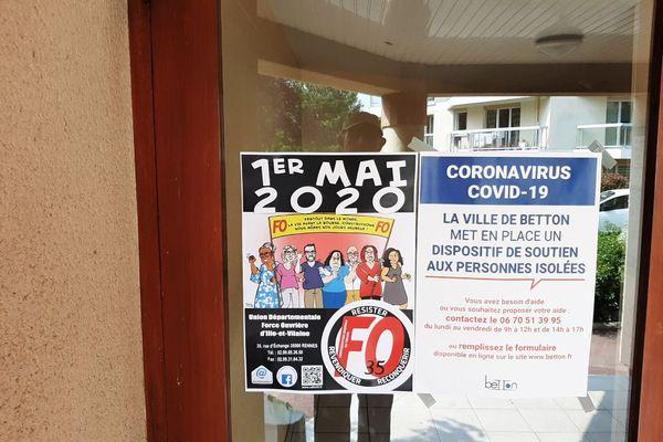 Une affiche syndicale du 1er Mai,  dans le contexte du Covid-19