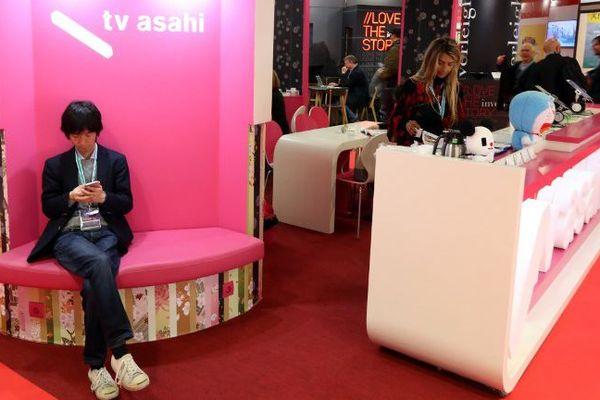Le stand d'une chaîne de télévision japonaise lors de l'édition 2018.