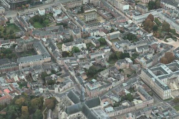 Amiens vu du ciel et en 3D