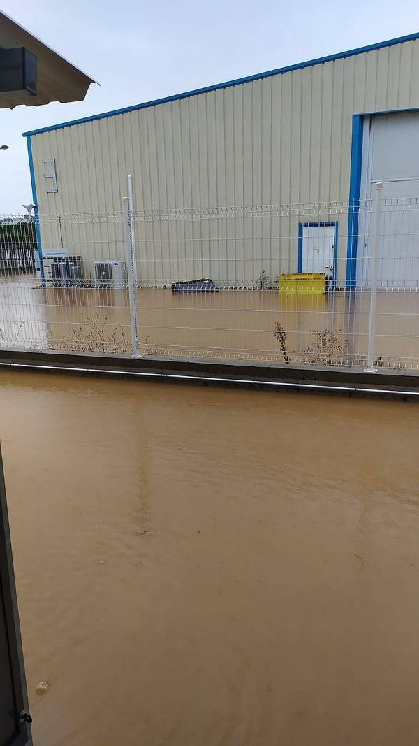 A cause des fortes pluies tombées fin octobre sur l'Hérault, plusieurs entreprises ont été inondées, comme ici à Portiragnes.