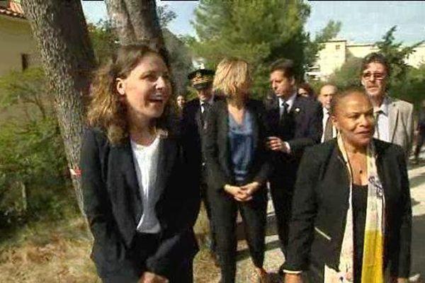 Chrsitiane Taubira  lundi en visite à l'Etablissement de placement éducatif de Martigues.