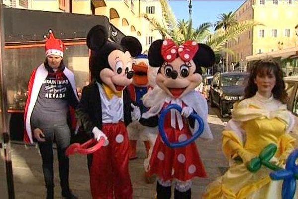 Des animations sont organisées dans les rues d'Ajaccio à l'approche de Noël