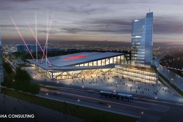 La future Arena de la SIG, dessiné par le cabinet d'architecture Nogha consulting.